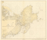Ipswich Bay to Gloucester Harbor 1920b - Old Map Nautical Chart AC Harbors 1 243 - Massachusetts