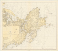 Ipswich Bay to Gloucester Harbor 1923b - Old Map Nautical Chart AC Harbors 1 243 - Massachusetts