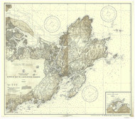 Ipswich Bay to Gloucester Harbor 1930a - Old Map Nautical Chart AC Harbors 1 243 - Massachusetts