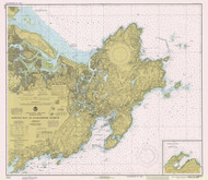 Ipswich Bay to Gloucester Harbor 1979 - Old Map Nautical Chart AC Harbors 1 243 - Massachusetts