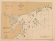 Salem Harbor and Approaches Massachusetts 1897 - Old Map Nautical Chart AC Harbors 1 244 - Massachusetts