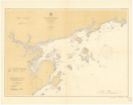 Salem Harbor and Approaches Massachusetts 1900b - Old Map Nautical Chart AC Harbors 1 244 - Massachusetts