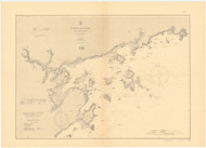 Salem Harbor and Approaches Massachusetts 1905 - Old Map Nautical Chart AC Harbors 1 244 - Massachusetts