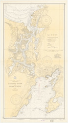 Gloucester Harbor and Annisquam River 1936 - Old Map Nautical Chart AC Harbors 1 233 - Massachusetts