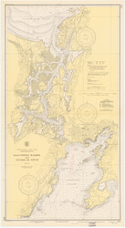 Gloucester Harbor and Annisquam River 1945 - Old Map Nautical Chart AC Harbors 1 233 - Massachusetts