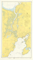 Gloucester Harbor and Annisquam River 1954 - Old Map Nautical Chart AC Harbors 1 233 - Massachusetts