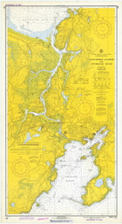Gloucester Harbor and Annisquam River 1973 - Old Map Nautical Chart AC Harbors 1 233 - Massachusetts
