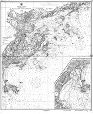 Salem and Lynn Harbors 1921 - Old Map Nautical Chart AC Harbors 1 240 - Massachusetts