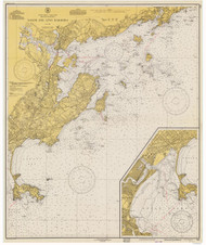 Salem and Lynn Harbors 1940 - Old Map Nautical Chart AC Harbors 1 240 - Massachusetts