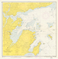 Salem, Marblehead, and Beverly Harbors 1966 - Old Map Nautical Chart AC Harbors 1 241 - Massachusetts