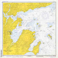 Salem, Marblehead, and Beverly Harbors 1973 - Old Map Nautical Chart AC Harbors 1 241 - Massachusetts