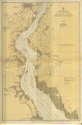 Delaware River Bombay Hook to Wilmington 1925 - Old Map Nautical Chart AC Harbors 294 - New Jersey