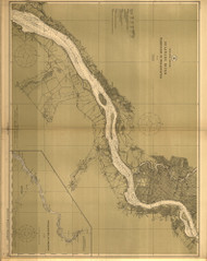 Delaware River Wilmington to Philadelphia 1913 - Old Map Nautical Chart AC Harbors 295 - New Jersey