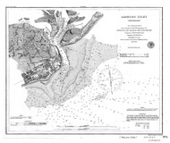 Absecon Inlet 1864 - Old Map Nautical Chart AC Harbors 374 - New Jersey