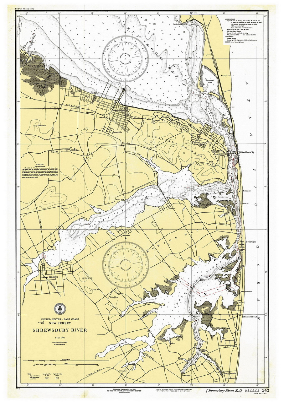 Shrewsbury River 1933 - Old Map Nautical Chart AC Harbors 543 - New on map of jersey shore towns, map of jersey shore coast, map of europe coast, map maryland coast, map of southeastern united states coast, map of long beach island jersey shore, map of north jersey beaches, map of tybee island coast, map new york coast, map of washinton coast, map of lake michigan coast, map of singapore coast, map of eastern u.s. coast, map of thailand coast, map of biloxi coast, map of pismo beach coast, new jersey map east coast, map of south jersey coast, map of eastern united states coast, map of south atlantic coast,