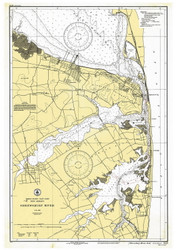 Shrewsbury River 1933 - Old Map Nautical Chart AC Harbors 543 - New Jersey