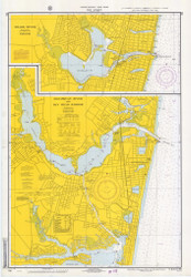 Shark River, Manasquan River, and Bay Head Harbor 1968 - Old Map Nautical Chart AC Harbors 795 - New Jersey