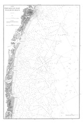Absecon Inlet to Leamings Beach 1881 A - Old Map Nautical Chart AC Harbors 1585 - New Jersey