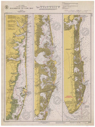 Manasquan to Cape May 1940 - Old Map Nautical Chart AC Harbors 3243 - New Jersey
