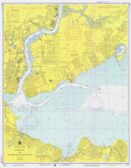 Raritan Bay and Southern Part of Arthur Kill 1974 - Old Map Nautical Chart AC Harbors 12331 - New Jersey