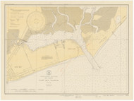 Cape May Harbor 1931 B - Old Map Nautical Chart AC Harbors 234 - New Jersey