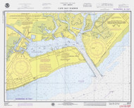 Cape May Harbor 1975 - Old Map Nautical Chart AC Harbors 234 - New Jersey