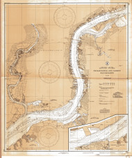 Delaware River Philadelphia and Camden Waterfronts 1835 - Old Map Nautical Chart AC Harbors 280 - New Jersey