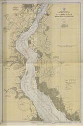 Delaware River Bombay Hook to Wilmington 1930 - Old Map Nautical Chart AC Harbors 294 - New Jersey