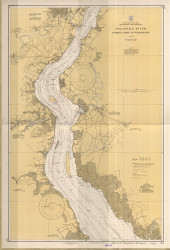 Delaware River Bombay Hook to Wilmington 1934 - Old Map Nautical Chart AC Harbors 294 - New Jersey