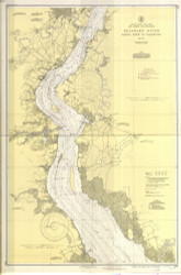 Delaware River Bombay Hook to Wilmington 1943 - Old Map Nautical Chart AC Harbors 294 - New Jersey