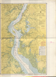 Delaware River Bombay Hook to Wilmington 1935 - Old Map Nautical Chart AC Harbors 294 - New Jersey