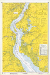 Delaware River Bombay Hook to Wilmington 1968 - Old Map Nautical Chart AC Harbors 294 - New Jersey