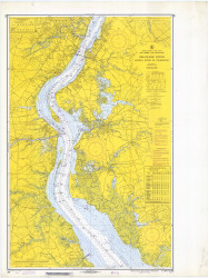 Delaware River Bombay Hook to Wilmington 1969 - Old Map Nautical Chart AC Harbors 294 - New Jersey