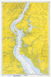 Delaware River Bombay Hook to Wilmington 1971 - Old Map Nautical Chart AC Harbors 294 - New Jersey