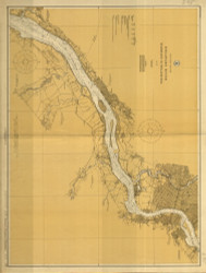 Delaware River Wilmington to Philadelphia 1925 - Old Map Nautical Chart AC Harbors 295 - New Jersey