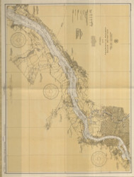 Delaware River Wilmington to Philadelphia 1935 - Old Map Nautical Chart AC Harbors 295 - New Jersey