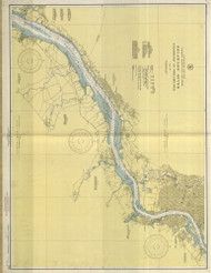 Delaware River Wilmington to Philadelphia 1943 - Old Map Nautical Chart AC Harbors 295 - New Jersey