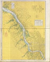 Delaware River Wilmington to Philadelphia 1954 - Old Map Nautical Chart AC Harbors 295 - New Jersey