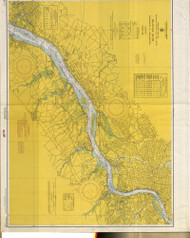 Delaware River Wilmington to Philadelphia 1965 - Old Map Nautical Chart AC Harbors 295 - New Jersey