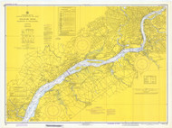 Delaware River Wilmington to Philadelphia 1973 - Old Map Nautical Chart AC Harbors 295 - New Jersey