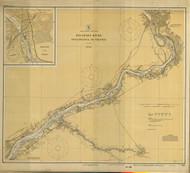 Delaware River Philadelphia to Trenton 1925 - Old Map Nautical Chart AC Harbors 296 - New Jersey