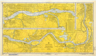 Delaware River Philadelphia to Trenton 1968 - Old Map Nautical Chart AC Harbors 296 - New Jersey