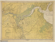 Raritan River Raritan Bay to New Brunswick 1946 - Old Map Nautical Chart AC Harbors 375 - New Jersey