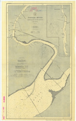 Passaic River Newark Bay to Belleville 1906 - Old Map Nautical Chart AC Harbors 565 - New Jersey