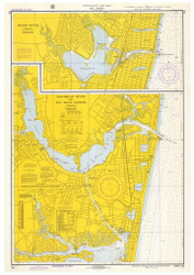 Shark River, Manasquan River, and Bay Head Harbor 1972 - Old Map Nautical Chart AC Harbors 795 - New Jersey