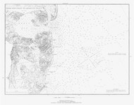 New Inlet to Absecon Inlet 1881 B - Old Map Nautical Chart AC Harbors 1592 - New Jersey
