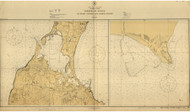 Harbors of Refuge at Point Judith and Block Island 1925 - Old Map Nautical Chart AC Harbors 276 - Rhode Island
