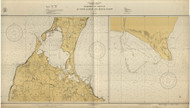 Harbors of Refuge at Point Judith and Block Island 1931 - Old Map Nautical Chart AC Harbors 276 - Rhode Island