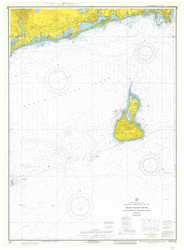 Point Judith to Montauk Point 1974 - Old Map Nautical Chart AC Harbors 271 - Rhode Island