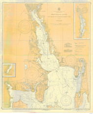 Providence River 1937 - Old Map Nautical Chart AC Harbors 278 - Rhode Island